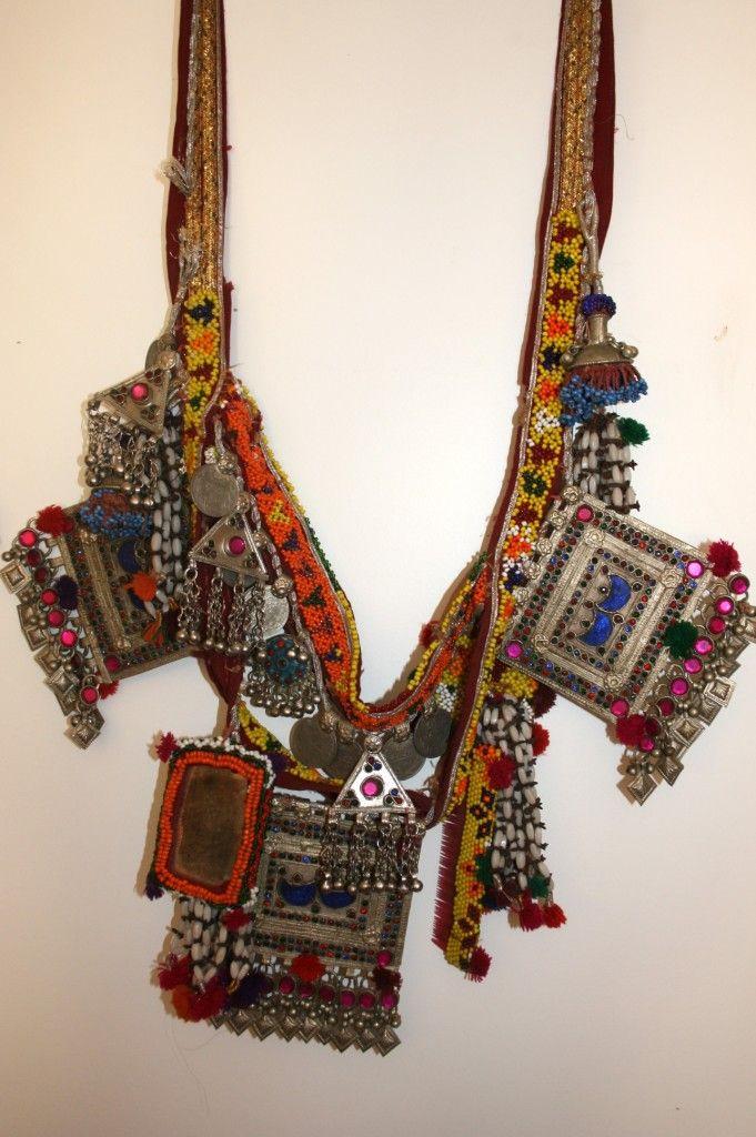 Pakistan - tribal necklace. Many talismans.  Ethnic chic!