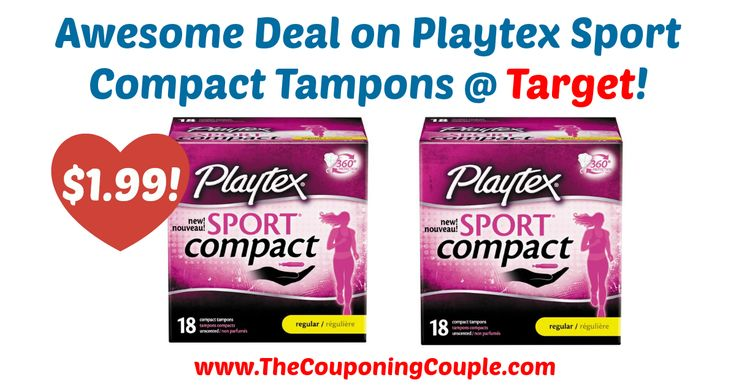 Awesome Deal on Playtex Sport Compact Tampons Target