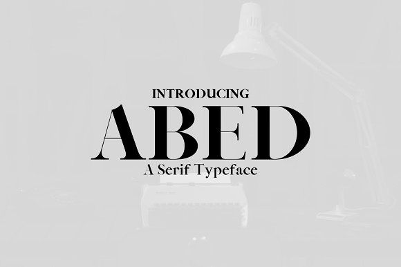 Abed Serif Typeface by Symufa on @creativemarket