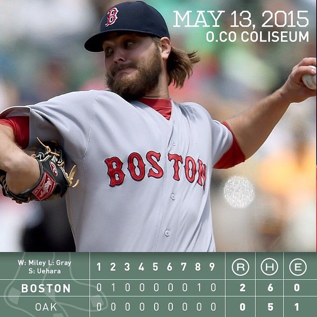 Wade Miley hurls 6.2 scoreless frames as the #RedSox blank the A's to complete the series win.