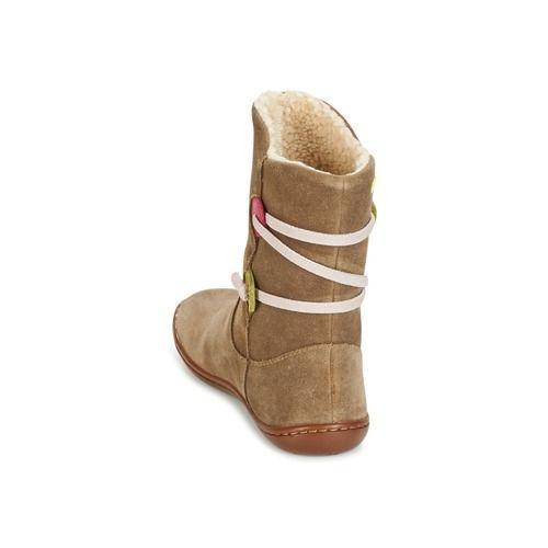 Topánky Dievčatá Polokozačky Camper TWS Hnedá