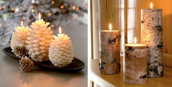 21 best ideas for logs and wood images on pinterest log for 7 candle christmas decoration