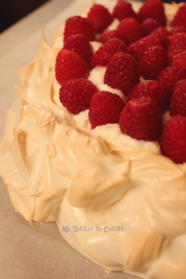 Mi Diario de Cocina: Pavlova con frambuesas