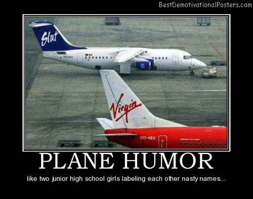 Slut and virgain plane