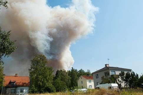 Branden väster om Sala, utanför samhället Gammelby nära Virsbo.
