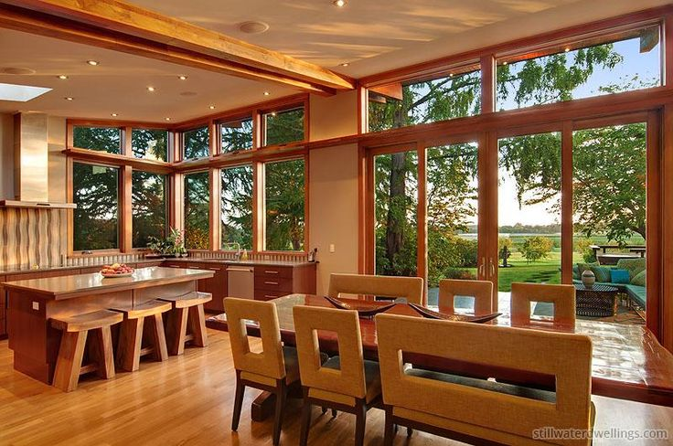 Prefabricated Home Dining Room in Portland, OR - Stillwater Dwellings