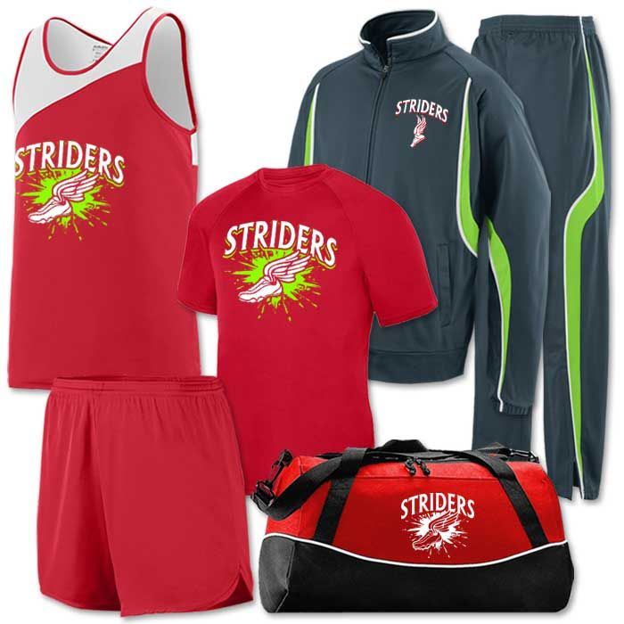 Team Pack Accelerate:  Everything your Track & Field team sees for 1 low price. (Track Uniform, Performance Tee, Warm Up Suit, Bag & Shipping)