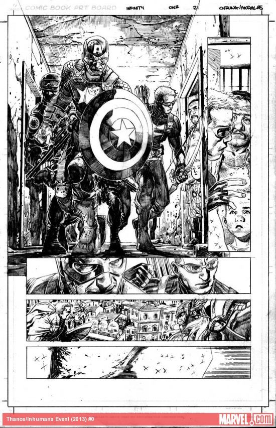 Exclusively preview Infinity #1 by Jonathan Hickman and Jim Cheung! What is the bigger threat facing the Avengers, the Builders or Thanos?  http://marvel.com/news/story/20716/enter_infinity_with_an_exclusive_first_look