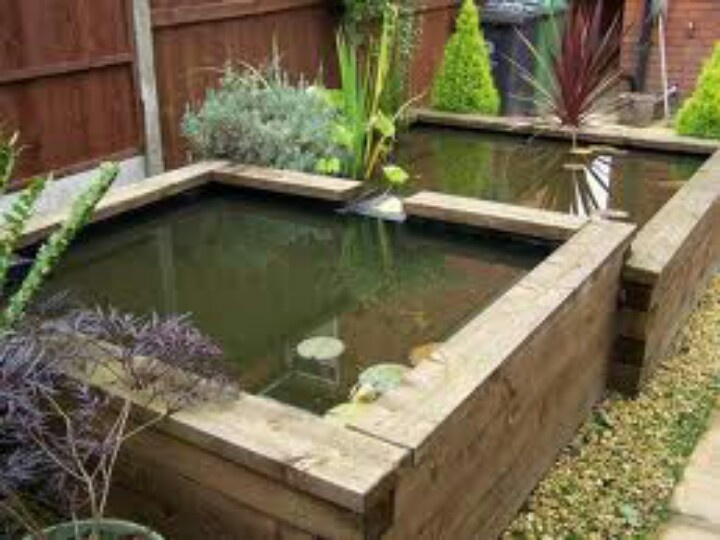 56 best images about pond ideas on pinterest raised pond for Raised koi pond ideas
