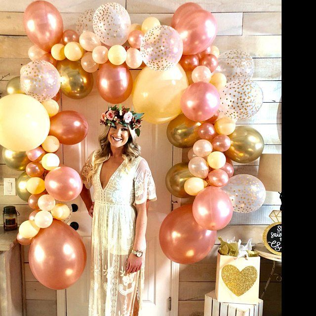 a23cb3f8fce Rose Gold Balloon Garland DIY Kit Rose Gold New Chrome Gold   Peach ...