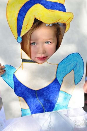Cinderella birthday party: cut-out