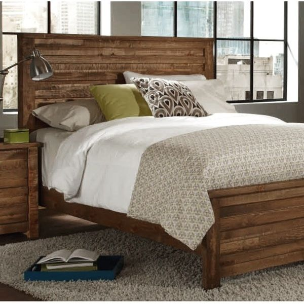 Progressive Melrose Pine Bed (King, natural/ brown) Pine