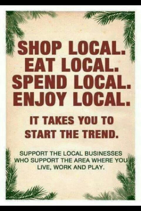shop at local stores this holiday season support local vendors artists craftsmen and growers help your local economy