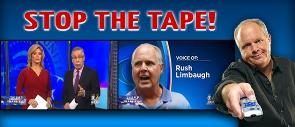 RUSH:  Ladies and gentlemen, on WBZ-TV Boston, this program, you and me, have been defamed... The Boston CBS affiliate did a report claiming that I am getting angry calls, so many angry calls from you about Trump backtracking on promises that I felt compelled to push back.  This is fake news from the blue states.