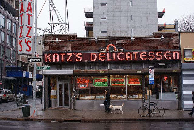 The famous Katz's Delicatessen located in the Lower East Side.