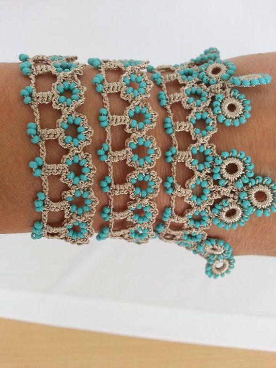 cuff bracelet bracelet with beaded by elegantaccessoryshop
