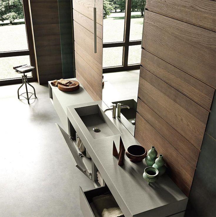 I forti volumi di #Infinity di @modulnova  caratterizzano uno spazio #bagno essenziale e #contemporaneo. www.gasparinionline.it #arredo #interiors #design #casa #home #style #weloveit #arredobagno