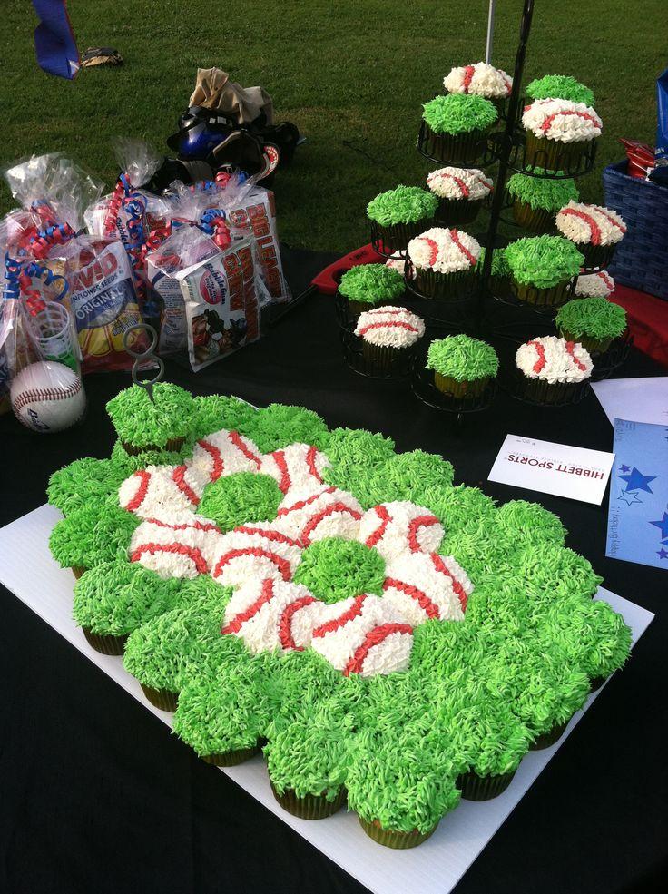 Baseball Cupcake Cake...