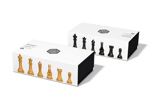 Chess box designed for the World Chess Championship. Design by Daniel Weil.