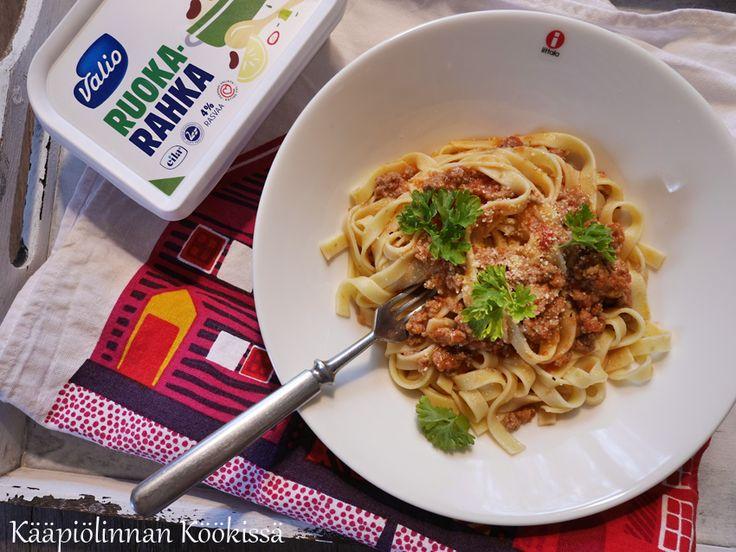 Kääpiölinnan köökissä: Farmaria, pastaa ja Valio ruokarahkaa!