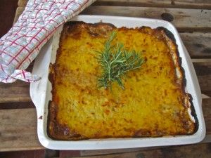 A variation on shepherds pie made from leftover chicken