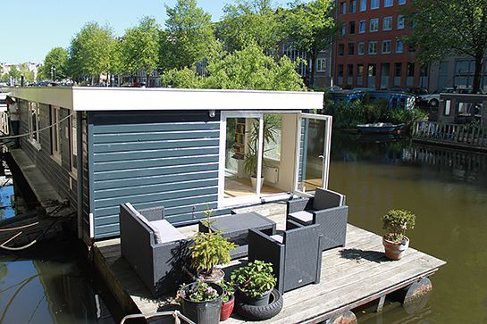 10 Floating Hotel Rooms You Need To Rent, Stat #refinery29  http://www.refinery29.com/houseboat-vacation-rentals#slide-2  AmsterdamAmsterdam is a city built around a concentric ring of canals. It makes sense, then, that as a visitor, you embrace this reverence for the water. This bright and cozy floating apartment is suitable for up to four guests, and is walking distance from the city center, museums, pa...