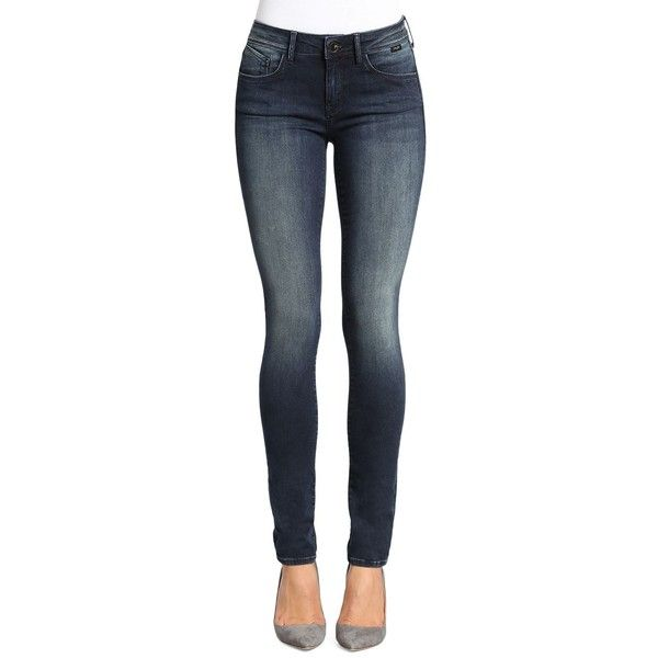 Mavi Women's Gold Adrianna Skinny Jeans ($148) ❤ liked on Polyvore featuring jeans, dark blue, mavi skinny jeans, cut skinny jeans, skinny leg jeans, faded skinny jeans and zipper jeans