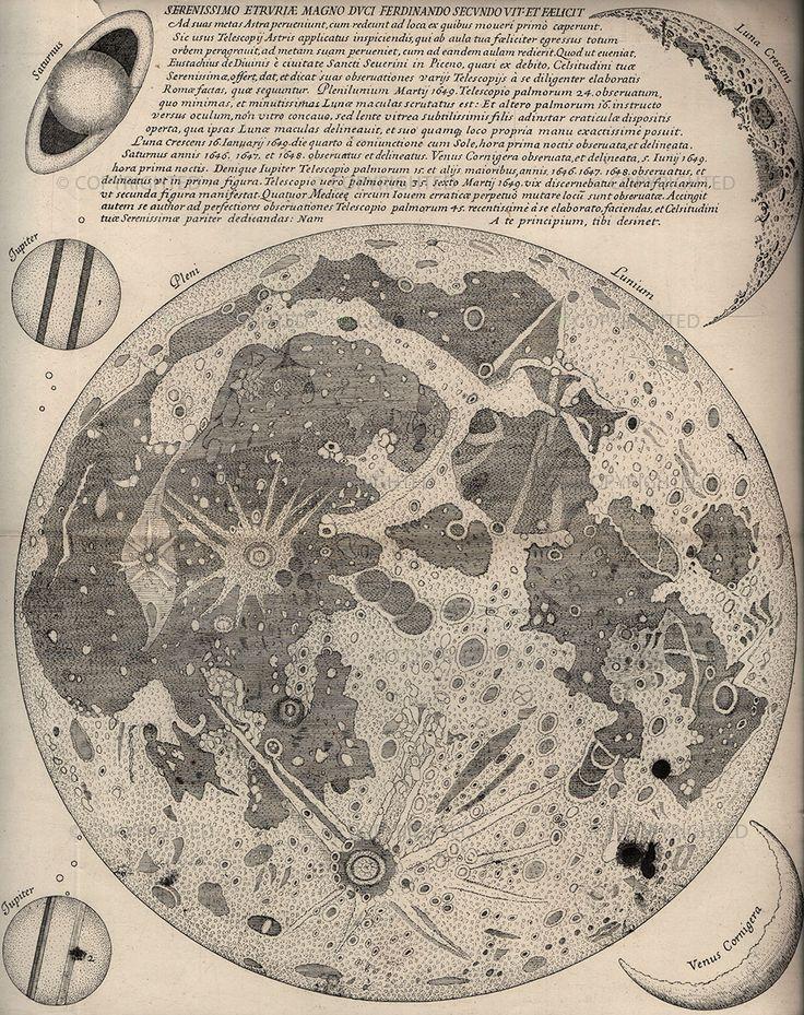 Eustachio Divini Map of the Moon