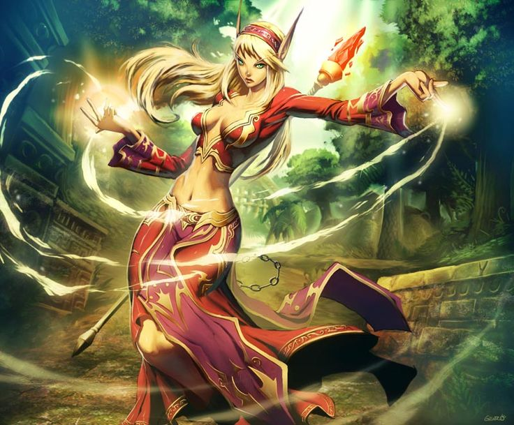Blood elf mage - WoW