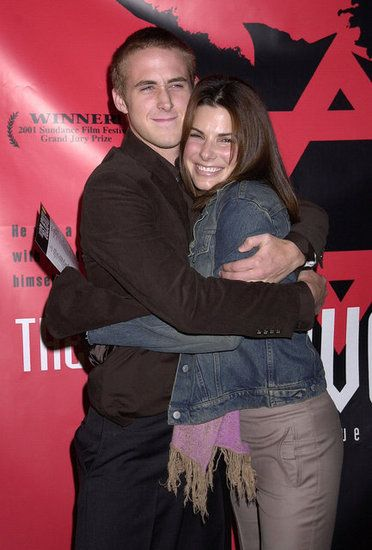 Celebrity couples from the past: Sandra Bullock+Ryan Gosling (2002-2003).