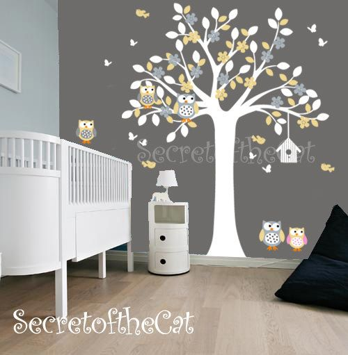 Wall Decals Nursery. Tree Decal. Wall Decal by secretofthecat