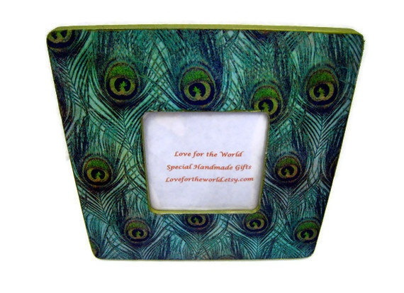Peacock Picture Frame Home Decor By Lovefortheworld On