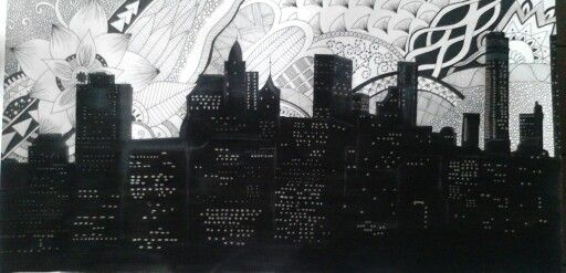 #zentangle #city #edificios