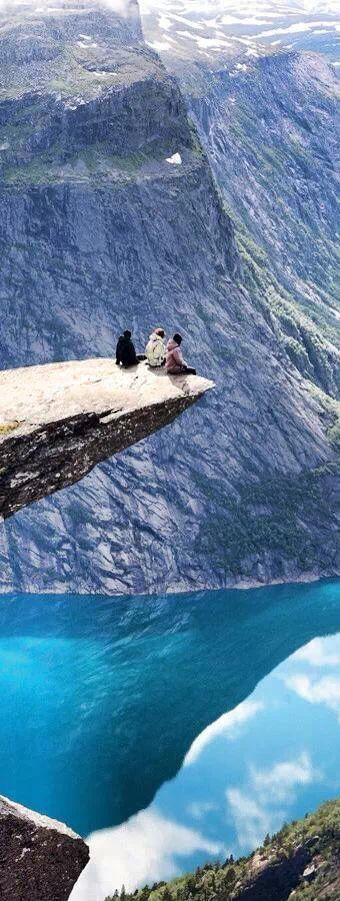 Norway Totally insane people sitting on the edge of the world.