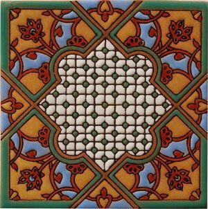 High relief mexican tiles: rvl 753 verde & azul