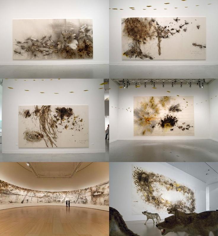 Art with gunpowder, Cai Guo- Quiang. Guggenheim museum.