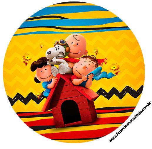 Uau! Veja o que temos para Topper para docinhos Snoopy e sua Turma