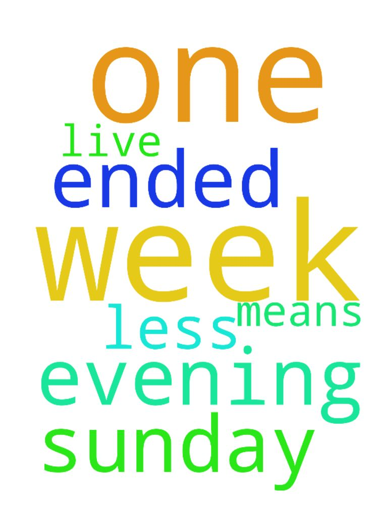 I thank God for this sunday evening. One week has ended - I thank God for this sunday evening. One week has ended again and it means I have one week less to live. Posted at: https://prayerrequest.com/t/QvB #pray #prayer #request #prayerrequest