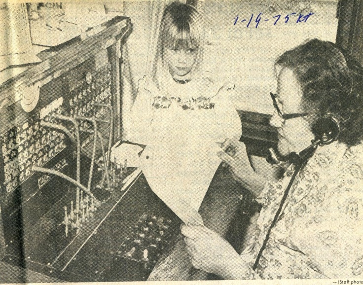 """Telephone """"party lines"""" were common with up to 17 people sharing a single phone line.  Really no such thing as a dedicated single line.  This picture is a telephone operator manually managing / juggling the use of the lines."""