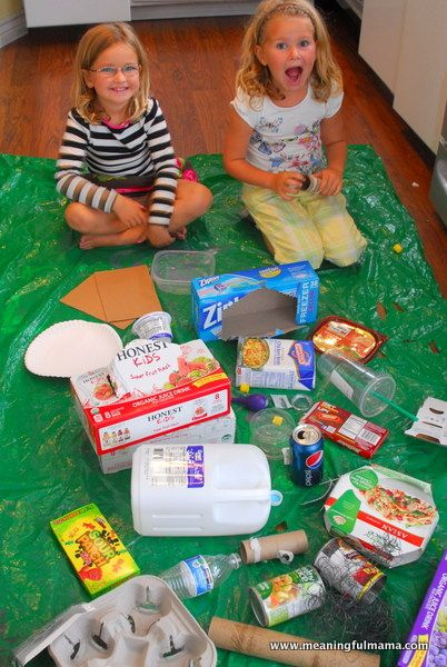 """Garbage"" crafts for kids"