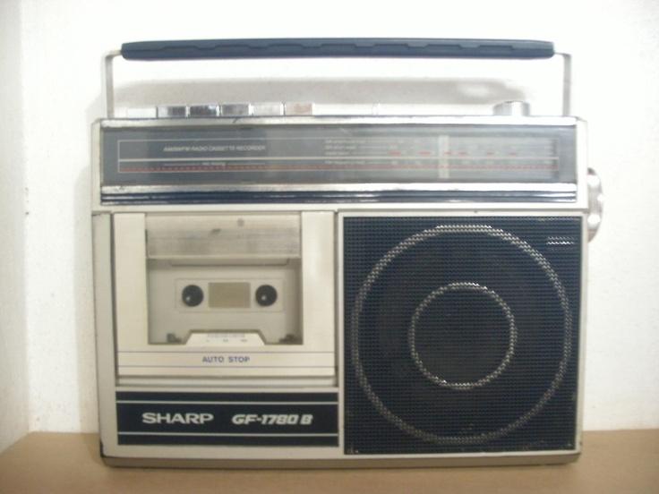 Radio Gravador Antigo 3 Faixas Sharp Gf-1780b