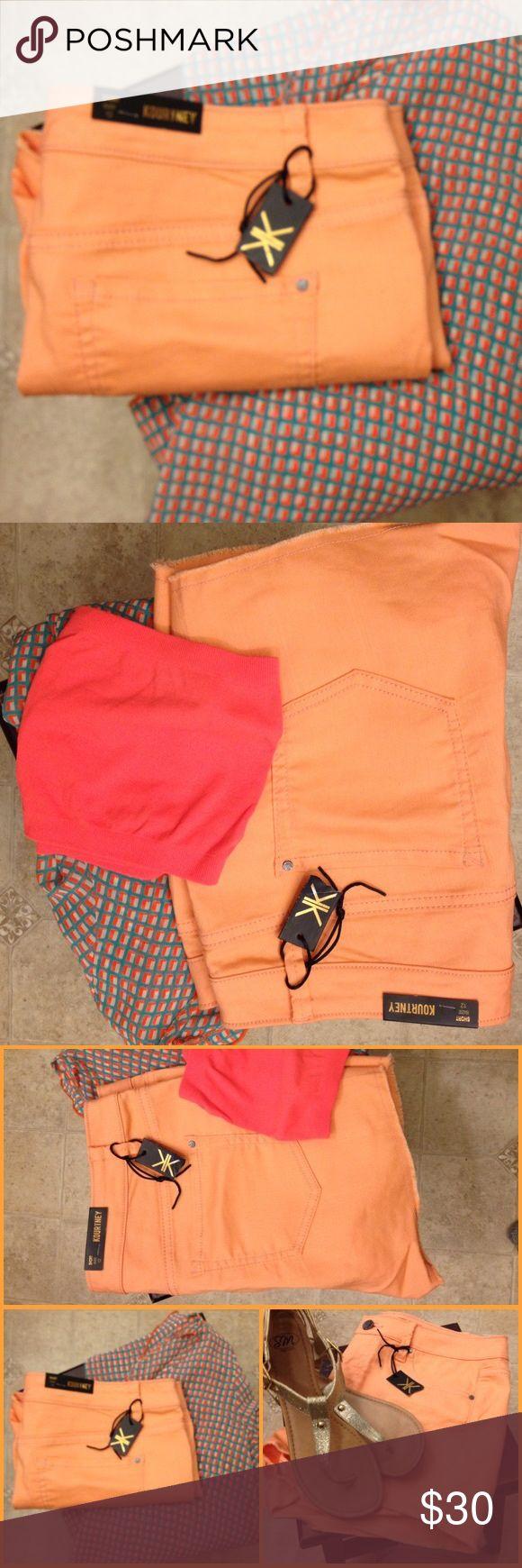 ✨ Kardashian Collection: Shorts✨ NWT Kardashian premium collection. Coral pink, size 12 Kourtney shorts. Kardashian Kollection Shorts Bermudas