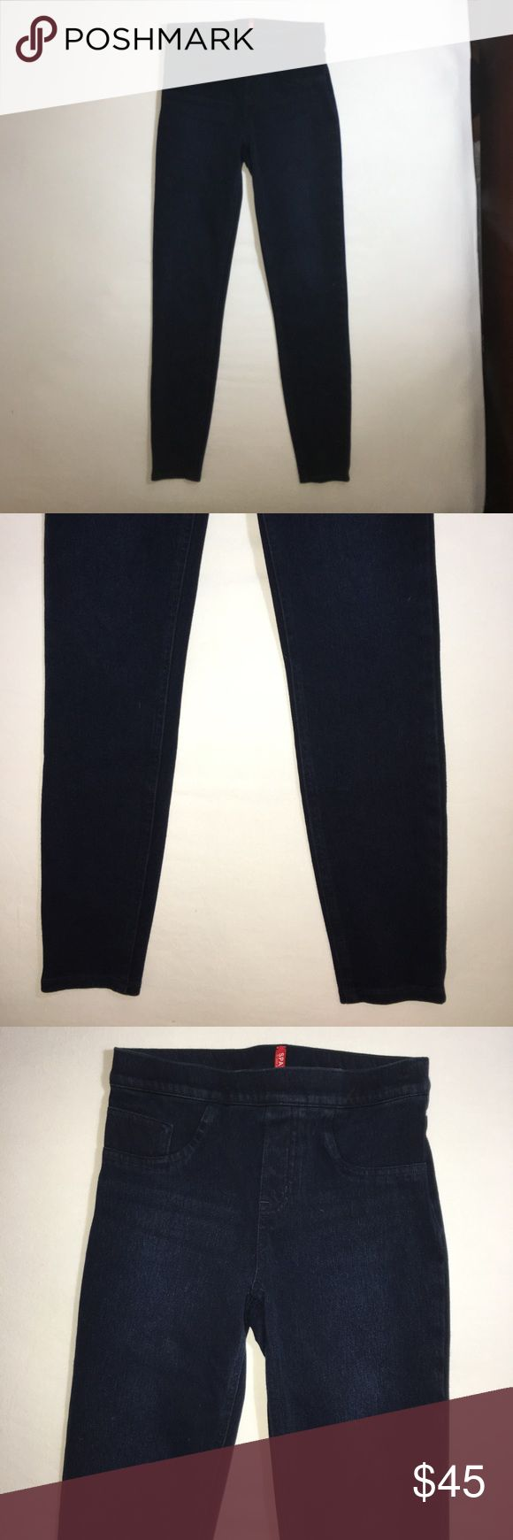 Navy Blue Leggings In Good Condition. SPANX Pants Leggings