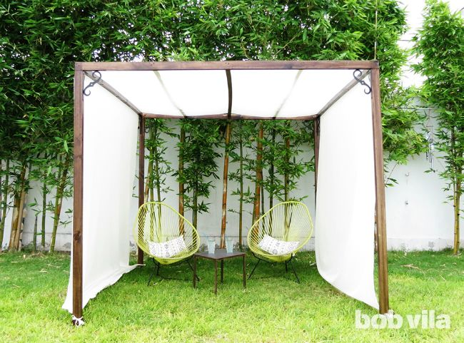 DIY privacy screen and canopy   Define your outdoor space, establish privacy, and even create some extra shade!