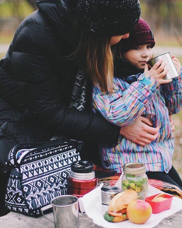 """Every season is picnic season for us""  Thanks @elenakovyrzina for sharing this moment with us!  #adventuretime #lifewelltraveled  #discoverearth #mommyandme #exploreeverywhere #familyhike #packedlunch #familytime"