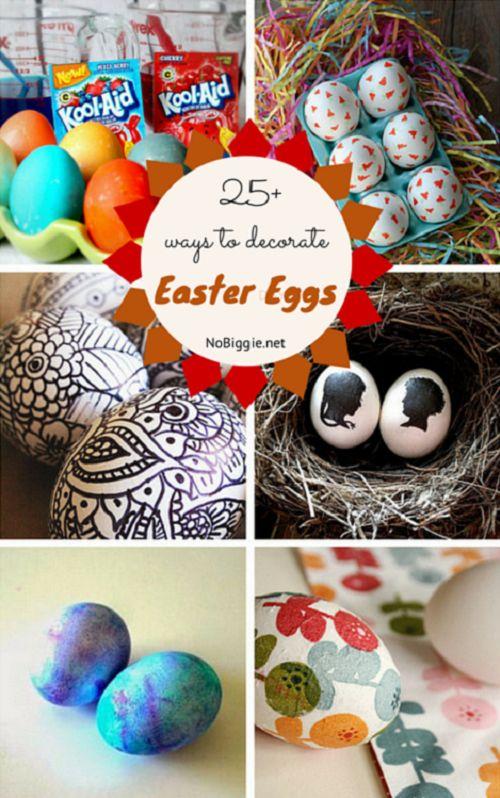 25+ ways to decorate Easter Eggs - NoBiggie.net