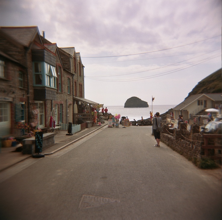 Cornwall, Trebarwith Strand, summer 2011. Camera: Holga. Film: Kodak Portra 400 (out of date).