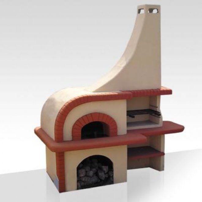 Barbecue con forno modello Val d'isere: forno da giardino realizzato in cemento armato, piani in cotto, completo di focolare e forno. Ideale per il tuo giardino, e cucina con il metodo che preferisci sfruttando la duplice funzionalità