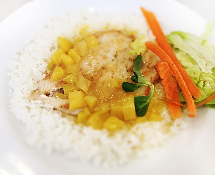 Denné menu Vranov | Grilované kuracie prsia preliate mango chutney, dusená ryža - reštaurácia Hotel Patriot*** #hotel #restaurant