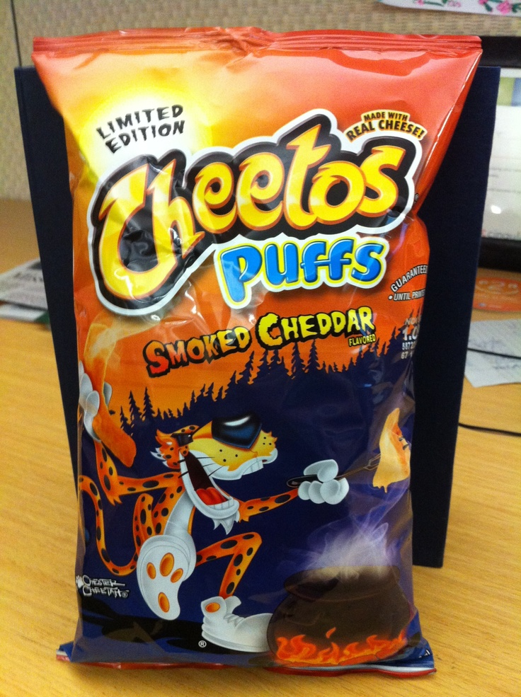 Cheetos puffed smoked cheddar flavor